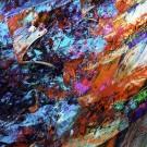 Duale 6, des artistes Etienne Saint-Amant et Éric Dupont, Tableau, Encres pigmentées, papier photo professionnel, acrylique muséal, antireflet, sur aluminium, Création unique, Dimension : 36 po x 36 po de largeur