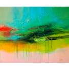 Égoutter la lumière, de l'artiste Sophie Ouellet, Tableau, acrylique sur toile, Création unique, dimension : 30 x 36 po de largeur