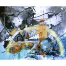Émotion vive, de l'artiste Sandy Cunningham, Tableau, Acrylique sur toile, Création unique, dimension : 48 x 60 po de largeur
