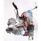 Encre soprano, dessin de l'artiste Benoit Genest Rouillier, dessin, Encre sur carton, Création unique, dimension : 12 x 9 po de largeur
