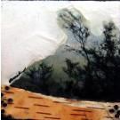 Entre les branches, de l'artiste Anik Lachance, Tableau, Techniques mixtes sur bois, Création unique, dimension : 6 x 6 po x 2 po d'épaisseur