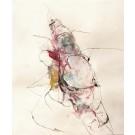 Fracture des verbes, de l'artiste Benoit Genest Rouillier, Oeuvre sur papier, Acrylique, encre de Chine, pastel sec et graphite, Création unique, dimension : 13.75 po x 10.25 po de largeur