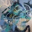 Froideur de l'indifférence, de l'artiste Sandy Cunningham, Tableau, Techniques mixtes sur bois, Création unique, dimension 36 x 36 pouces de largeur
