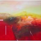 Guérir, de l'artiste Sophie Ouellet, Tableau, acrylique sur toile cartonnée, Création unique, dimension : 16 x 16 po de largeur
