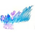 Horizons lointains (o.encadrée), de l'artiste Marie-Pier Sanfaçon, Sur papier Yupo, oeuvre encadrée, techniques mixtes, Création unique, dimension : 12 x 18 po de largeur
