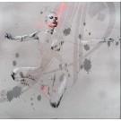 Carte de souhaits 5x5, Icône du naufrage, de l'artiste Marie Chantal Le Breton, dimension : 5.5 x 5.5 pouces largeur, sans texte, avec enveloppe  Vous pouvez inscrire votre message à l'intérieur.  Carte vendue à l'unité