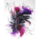 Il n'y a pas de hasard, que des rencontres, de l'artiste Nancy Létourneau, Tableau sur panneau de bois galerie, médium encre à l'alcool et acrylique, Création unique, dimension 30 x 24 de largeur