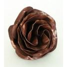Rose de table, de l'artiste Denis Lebel, Sculpture, Cuivre, Création unique, dimension : 3.5 x 3 po, vue A