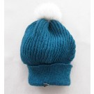 Tuque béret, no 6, de l'artiste Irèna Geerts, Création québécoise faite à la main. Modèle garni d'une finition de fourrure recyclée et de laine alpaga à 100 %.