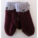 Moufle Kloo lake, no 13, de l'artiste Irèna Geerts, Création québécoise faite à la main. Modèle double épaisseur de laine alpaga à 100 %.