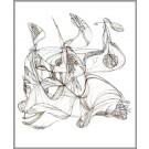 J'ai perdu la tête ou le 3e oeil, de l'artiste Dorothée Couture, Dessin : Encre sur carton, Création unique, dimension 20 x 16 pouces de largeur
