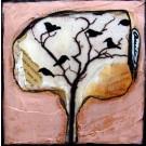 J'aime les oiseaux, de l'artiste Anik Lachance, Tableau, Techniques mixtes, Création unique, dimension : 6 x 6 po de largeur