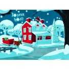 Carte de souhaits 5x7, Notre Noël d'antan, Ni Vu Ni Cornu, dimension : 5 x 7 pouces largeur, sans texte, avec enveloppe, Vous pouvez inscrire votre message à l'intérieur, Carte vendue à l'unité, En + grande quantité, texte personnalisé, frais supplémentai