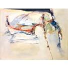 L'accident des marguerites, de l'artiste Benoit Genest Rouillier, Tableau, Acrylique sur toile, Création unique, dimension : 36 x 48 po de largeur
