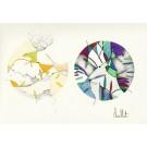 L'expérience de la perte (o.encadrée), de l'artiste Sophie Ouellet, Oeuvre sur papier sans acides, Encre, pastel sec et graphite, Création unique, dimension : 9 x 12 po de largeur