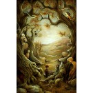 L'Orée de la forêt, affiche, de l'artiste Félix Girard, sur papier Hahnemühle Fine Art Photo Rag avec de l'encre à pigment, dimension : 19 x 13 pouces de largeur, affiche prête à être encadrée