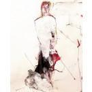 L'âme des calories disciplinées, de l'artiste Benoit Genest Rouillier, Oeuvre sur papier, Techniques mixtes, Création unique, dimension : 13.75 po x 10.50 po de largeur