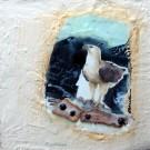 L'oiseau de proie, de l'artiste Anik Lachance, Tableau, Techniques mixtes, Création unique, dimension : 10 x 10 po de largeur