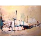 L'été des patates, de l'artiste Benoit Genest Rouillier, Tableau, Acrylique sur toile, Création unique, dimension : 36 x 48 po de largeur