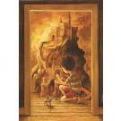Carte de souhaits 7x5, La chambre, de l'artiste Félix Girard, dimension : 7 x 5 pouces largeur, sans texte, avec enveloppe, Vous pouvez inscrire votre message à l'intérieur, Carte vendue à l'unité