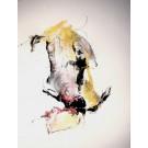 Fierté appliquée, de l'artiste Benoit Genest-Rouillier, Dessin : techniques mixtes sur papier, Création unique, dimension 13.75 x 10.5 pouces de largeur
