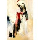 La lampe symphonique, de l'artiste Benoit Genest Rouillier, Tableau, Acrylique sur toile, Création unique, dimension : 60 x 40 po de largeur