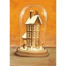 Carte de souhaits 7x5, La neige, de l'artiste Félix Girard, dimension : 5 x 7 pouces largeur, sans texte, avec enveloppe, Vous pouvez inscrire votre message à l'intérieur, Carte vendue à l'unité