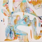 La Baie (série Transparences et liaisons), de l'artiste Zoé Boivin, Tableau, Médiums mixtes sur toile, Création unique, dimension 36 x 36 pouces de largeur