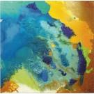 Carte de souhaits 5x5, La chevelure de la terre, de l'artiste Sophie Ouellet, dimension : 5 x 5 pouces largeur, sans texte, avec enveloppe, Vous pouvez inscrire votre message à l'intérieur, Carte vendue à l'unité