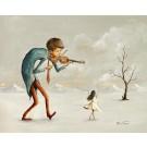 La danseuse, affiche, de l'artiste Félix Girard, sur papier Hahnemühle Fine Art Photo Rag avec de l'encre à pigment, dimension : 13 x 19 pouces de largeur, affiche prête à être encadrée