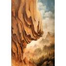 La falaise, affiche, de l'artiste Félix Girard, sur papier Hahnemühle Fine Art Photo Rag avec de l'encre à pigment, dimension : 19 x 13 pouces de largeur, affiche prête à être encadrée