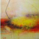 La traversée, de l'artiste Sophie Ouellet, Tableau, acrylique sur toile, Création unique, dimension : 20 x 20 po de largeur