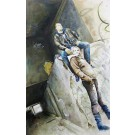 Le passage, de l'artiste Annie Lévesque, Tableau, acrylique et encre sur toile, dimension : 59 x 36 pouces de largeur