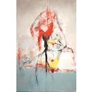 Le bolet mirage, de l'artiste Benoit Genest Rouillier, Tableau, Acrylique sur toile, Création unique, dimension : 60 x 40 po de largeur