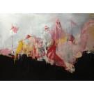 Le drapeau en cernes, de l'artiste Benoit Genest Rouillier, Tableau, Acrylique sur toile, Création unique, dimension : 36 x 48 po de largeur