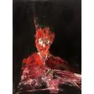 Le masque interrupteur, de l'artiste Benoit Genest Rouillier, Tableau, Acrylique sur toile, Création unique, dimension : 40 x 30 po de largeur