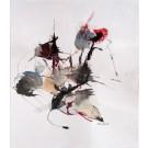Le miroir de la fiction, dessin de l'artiste Benoit Genest Rouillier, dessin, Encre et aquarelle sur carton, Création unique, dimension : 12 x 9 po de largeur