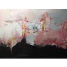 Le pont des ivrognes, de l'artiste Benoit Genest Rouillier, Tableau, Acrylique sur toile, Création unique, dimension : 36 x 48 po de largeur