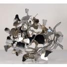 Lepidoptera, de l'artiste Julie Savard, Sculpture, aluminium chromé, Oeuvre inspirée des fonds marins, dimension : 12 x 17 x 17 po