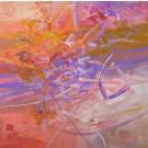 Les soupirs permanents, de l'artiste Sophie Ouellet, Tableau, Acrylique sur toile, Création unique, dimension : 16 x 16 po de largeur