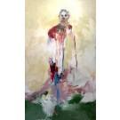 Les gloires irréductibles, de l'artiste Benoit Genest Rouillier, Tableau, Acrylique sur toile, Création unique, dimension : 60 x 36 po de largeur