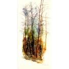 Les Ocres, de l'artiste Marie-Claude Bouchard, Tableau, Acrylique sur toile, Création unique, dimension 60 x 30 pouces de largeur