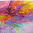 Carte de souhaits 5x5, Les murailles que nous partageons, de l'artiste Sophie Ouellet, dimension : 5 x 5 pouces largeur, sans texte, avec enveloppe, Vous pouvez inscrire votre message à l'intérieur, Carte vendue à l'unité