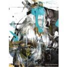 Carte de souhaits 7x5, Le temps des hirondelles, de l'artiste Sandy Cunningham, dimension : 7 x 5 pouces largeur, sans texte, avec enveloppe  Vous pouvez inscrire votre message à l'intérieur.  Carte vendue à l'unité