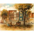 Limoilou, affiche, de l'artiste Félix Girard, sur papier Hahnemühle Fine Art Photo Rag avec de l'encre à pigment, dimension : 11 x 14 pouces de largeur, affiche prête à être encadrée