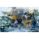 Lost in the forest, de l'artiste Sandy Cunningham, Tableau, Acrylique sur toile, Création unique, dimension : 48 x 72 po de largeur