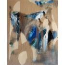 Mangata 43, de l'artiste Mélisa Taylor, Tableau, Acrylique sur bois, Création unique, dimension 14 x 11 pouces de largeur