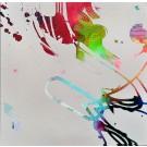 Marcher sur la ligne du vent, de l'artiste Marie Chantal Le Breton, Tableau, Acrylique sur bois, Création unique, dimension : 36 x 36 po de largeur