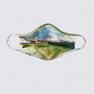 Masque facial lavable, modèle 'Connexion béton', Ni Vu Ni Cornu, Auteure Annie Lévesque, artiste, Art portable, 3 tailles M à XL, Fait au Canada
