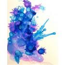 Mon dernier songe (o.encadrée), de l'artiste Marie-Pier Sanfaçon, Sur papier Yupo, oeuvre encadrée, techniques mixtes, Création unique, dimension : 14 x 11 po de largeur